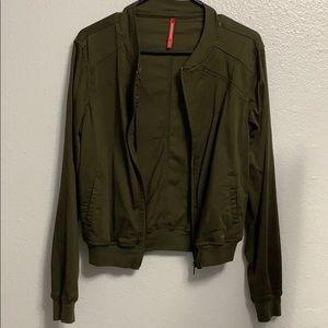 Unionbay Green Army Bomber Zip Jacket Sz L